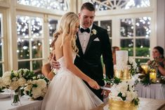 Mike and Farron's romantic celebration. Golden Cake, Wedding Cake Inspiration, Beautiful Wedding Cakes, Fireworks, Most Beautiful, Celebration, Wedding Photography, Romantic, Wedding Dresses