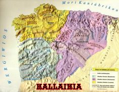 Map Showing The Ancient Celtic Clans Of Kallaikia/Gallaecia.# Gallaecian Celtic Culture.