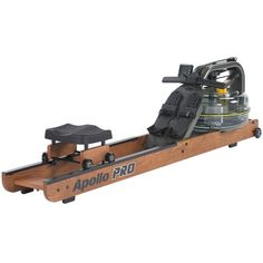 This First Degree Fitness Apollo Pro II Rowing Machine is a commercial-grade water rower that can be used at home or in the gym.