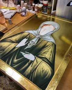 Icon Clothing, Gold Leaf Art, Byzantine Icons, Christian Church, Gold Gilding, Orthodox Icons, Religious Art, Art Techniques, Roman