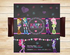 Printable Equestria Girls Candy Wrappers by ApothecaryTables