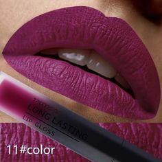 Matte 24 Color Liquid Lipstick #LipstickDupes Smeared Lipstick, Glitter Lipstick, Bold Lipstick, Lipstick Dupes, Lipstick Brands, Liquid Lipstick, Matte Lip Gloss, Matte Makeup, Liquid Makeup