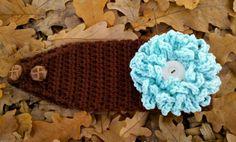 Caron+Free+Crochet+Scarf+Patterns | loopy flower crochet headband pattern