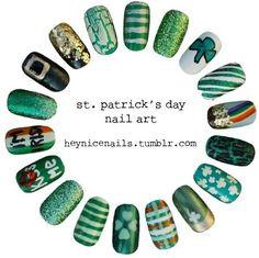 Irish nails for Irish girls! Get Nails, Fancy Nails, Love Nails, How To Do Nails, Hair And Nails, Crazy Nails, Amanda, Nail Polish Designs, Nail Art Designs