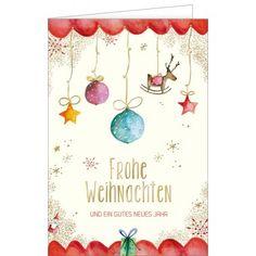 Geschmücktes Zuhause zu Weihnachtsfest - Doppeltext – Hanra Grußkarten-Shop