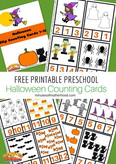 Halloween Preschool Free Printable Clip Counting Cards 1 – 12 To go along with our other Halloween themed printables I have made these clip counting cards. Clip counting cards can be used for…