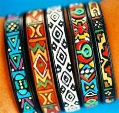 Local is Lekker: South African Crafts African Bracelets, African Jewelry, Africa Craft, African Colors, African Patterns, Afrique Art, African Artwork, South African Art, African Textiles