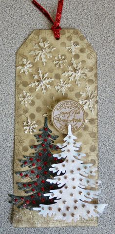 Spritzer Distress by Magouille - Cards and Paper Crafts at Splitcoaststampers Christmas Gift Tags, Xmas, Christmas Ornaments, Distress Markers, Winter Holidays, Creations, Paper Crafts, Crafty, Holiday Decor