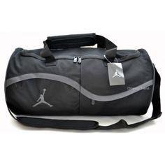 Nike Air Jordan Black and Gray Duffel Bag 2a3288dbec924