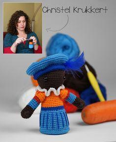 Gratis Haakpatroon Zwarte Piet van Christel Krukkert - Nieuws - G. Brouwer & Zn BV - Groothandel in fournituren, mode, wol en handwerken Love Crochet, Crochet For Kids, Diy Crochet, Crochet Dolls, Crochet Hats, Clay Fairies, Diy Doll, Hobbies And Crafts, Craft Fairs