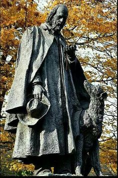 Not an IW but a deerhound...close! Alfred Lord Tennyson statue in Lincoln.