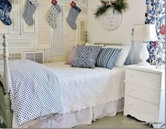 Love this farmhouse tour!  The neutral decorating with red and blue is perfect!  thistlewoodfarms.com