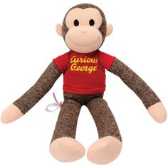 Schylling Curious George Sock Monkey Plush