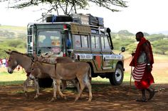 Trans Africa tour. Land Rover 109 III Series