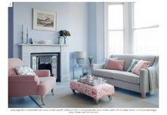 "Atlas Large Sofa in Nina Campbell Zitan Colour 01 fabric, £2,059; Greenwich Chair in Nina Campbell Ren Colour 04 fabric, £849 with 19"" Scatter Cushion in Nina Campbell Penglai Colour 02 fabric, £69 (all Multiyork)"