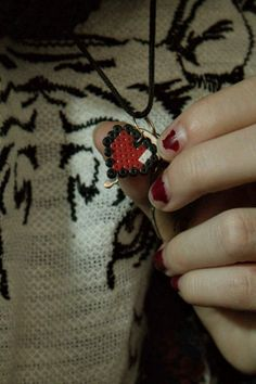 Heart necklace (hama beads)