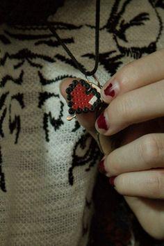 Heart necklace (hama beads)