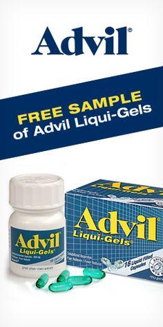 Get a #Free Sample of #Advil Liqui-Gels! #trial #pain #freebie