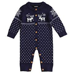 ZOEREA Unisex Newborn Baby Romper Long Sleeve Christmas Sweaters Coat Deer Navy ZOEREA http://www.amazon.com/dp/B015SOS4FK/ref=cm_sw_r_pi_dp_WEpowb1EWZCGC