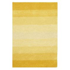 Brighten up your home with this festive, vibrant yellow hand-tufted wool rug. Made from 100-percent wool with a cotton backing, this yellow-ribboned rug with a plush 0.5-inch pile features shades of marigold, sunflower, and pastel yellow.