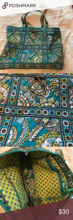 Vera Bradley medium sized tote Green and blue medium sized Vera Bradley tote Vera Bradley Bags Totes