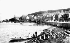 Port Bannatyne about 100 plus years ago. Photo originally uploaded by 'Munro's Self-catering House'. Isle Of Bute, Scottish Gaelic, Arran, 12th Century, Glasgow, United Kingdom, Scotland, Castle, Island