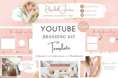 Do you want a cohesive YouTube channel that make your viewers stay? Then this is what you want! This beautiful templates will save you so much time and will help you put together PERFECT and professional YouTube channel!. Includes for example: 📌 2 YouTube Banner Templates 📌 3 Templates for Video Thumbnails 📌 2 Endscreen/Outro template. $11 #sponsored #ad