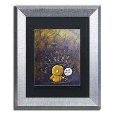 "Trademark Art 'Hello Friend' by Craig Snodgrass Framed Painting Print Size: 14"" H x 11"" W x 0.5"" D, Matte Color: Black"