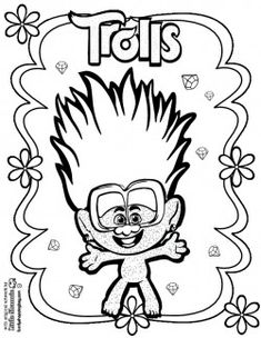 Free Trolls World Tour Coloring Page Shoppingbag.com Monster Coloring Pages, Cute Coloring Pages, Printable Coloring Pages, Coloring Sheets, Adult Coloring, Coloring Books, Imprimibles Toy Story Gratis, Los Trolls, Paw Patrol Coloring