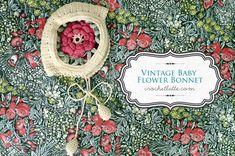 Vintage Baby Flower Bonnet