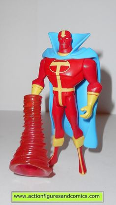 mattel toys action figures for sale to buy: JUSTICE LEAGUE UNLIMITED (DC universe animated) RED TORNADO Version: Light blue cape. yellow/red emblem) 100% COMPLETE with whirlwind accessory(only availab