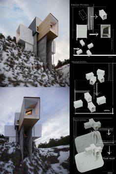M.Pourtahmasbi: House on the #cliff, closer to the clouds. Perhaps our idea of the main structure of a house is that its outer walls should not have any damage or stains but if this house is located in a rough nature, we may be able to dispel this notion. #cliffhouse #architecture #architect #amazingarchitecture #design #interiordesign #interiordesigner #decor #homedecor #home #house #luxury #diy #travel #amazing #photography #realestate #casa #arquitecto #arquitectura #decoration #3d… Cliff House, Amazing Architecture, 3 D, Real Estate, Clouds, Interior Design, Studio, Photography, Home Decor