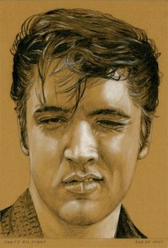 Elvis Art by Rob de Vries THE KING OF MUSIC