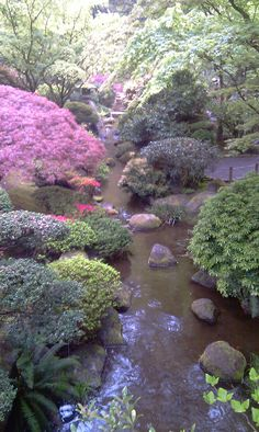 Japanese Garden  Portland, OR - would love to see this sometime when I am down at the Bunk and Buiscut!  :)