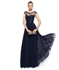 A-line beaded dark navy chiffon 2013 long Mother of the Bride Dresses MBT069.http://www.millybride.co.uk/wedding-party-dresses/a-line-beaded-dark-navy-chiffon-2013-long-mother-of-the-bride-dresses-mbt069-p13237.html
