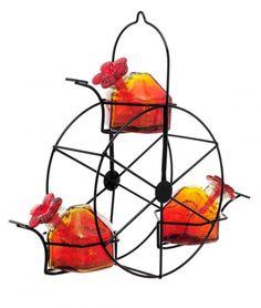 Red Ferris Wheel Hummingbird Feeder - $55.00
