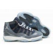 Air Jordan 11 Zapatos para hombre de piel para el invierno Gris Online