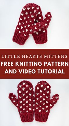 Click for the free knitting pattern and video tutorial for these chunky fair isle mittens!