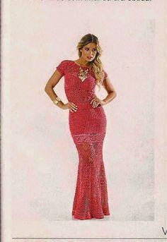 Vestido longo Anne - Danda Crochet