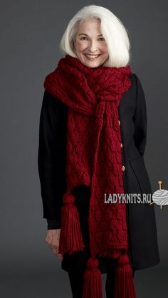 Как вязать объемный шарф с рельефной вязкой
