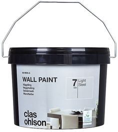 class ohlson 150 kr (sale) 3 litres, enough for two layers 12 to 15 m2   Väggfärg 7