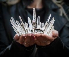 Crystal inspiration: fairy crowns from Elemental Child
