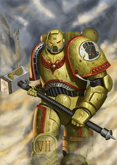 Warhammer Art, Warhammer 40000, Space Armor, What Makes Me Me, Lego Space Sets, Power Hammer, Imperial Fist, Tyranids, Swords And Daggers