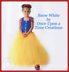 2ee6c6770860 Snow White Inspired Princess Tutu Dress by OnceUponATimeTuTus