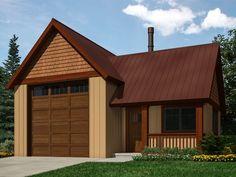 010G-0025: Garage Workshop Plan Offer Room for Work Bench and an RV Bay
