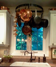 above sink pot racks