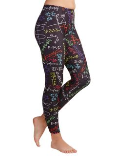 Fresh Take Leggings in Mathematics. Indulge in brilliant style with these printed leggings! #black #modcloth