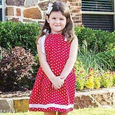 Red Polka Dot Ribbon Dress