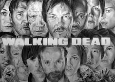The Walking Dead by Portrait Lc https://www.facebook.com/PortraitLc  #art #drawing #Graphit #portrait #black #white