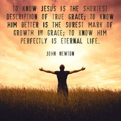 """Pastor John Newton Quotes   Quote by Christian John Newton on knowing Jesus. """"To know Jesus in the ..."""